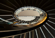 Spiral staircase. Looking up a spiral staircase at Arlanda Airport, Stockholm, Sweden Royalty Free Stock Image