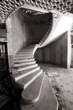 Spiral staircase in an abandoned hotel Royalty Free Stock Photography