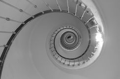 Spiral staircase. Abstract. Spiral staircase inside the lighthouse. Abstract. Casablanca, Morocco Stock Image