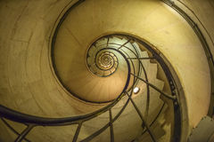 Spiral Staircase in Arc de Triomphe Royalty Free Stock Image