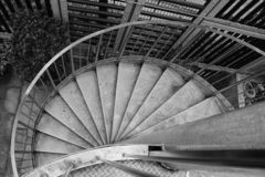 The spiral staircase royalty free stock image