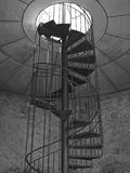 Spiral Staircase in B/W Stock Image