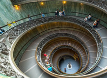 Spiral Staircase with beautiful rails in Vatican Museum Stock Photo