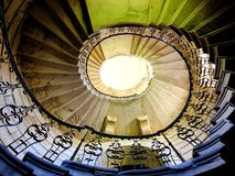 Spiral Staircase from below Stock Photo
