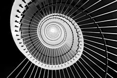 Spiral staircase. In black and white royalty free stock photos