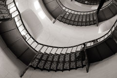 Spiral staircase in the castle Granitz Stock Photo