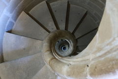 Spiral staircase of the cathedral of Baeza. In the province of Jaén, Andalusia Spain. Travel to Baeza and sightseeing Stock Photography