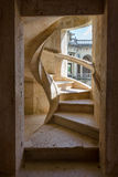 Spiral staircase in the courtyard of a medieval castle Stock Photography