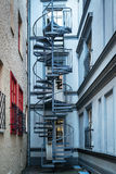 Spiral staircase in a courtyard, Riga Stock Photography