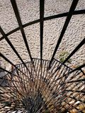 spiral staircase down to the beach. November, Saturday. stock images