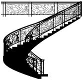 Spiral Staircase With The Fence Vector 01 Stock Image