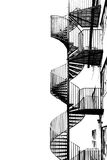 Spiral staircase for fire escape. Stock Photography