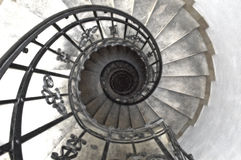 Spiral staircase - grainy royalty free stock photo