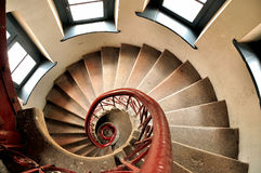 Spiral staircase. This is heart type building in a staircase,Living in China.It was the German occupation of Qingdao period of a prison Stock Image
