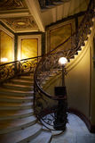 A spiral staircase in the house of the Eliseev brothers Royalty Free Stock Images