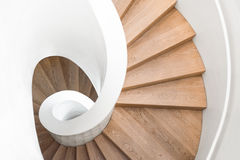 Spiral staircase inside the building Stock Photo