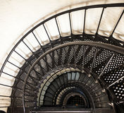 Spiral staircase inside historic St. Augustine Light at the Outer Banks Stock Photography