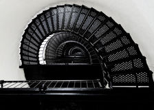 Spiral Staircase Inside Lighthouse Royalty Free Stock Images