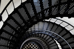Spiral Staircase Inside Lighthouse stock photography