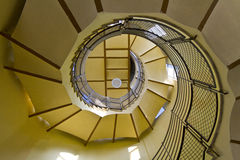 Spiral. Staircase intended to climb to the roof of the enclosure form geometric figure photography Royalty Free Stock Images