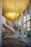 Spiral staircase in the interior Stock Photos