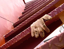 Spiral staircase of iron , and glove Stock Images