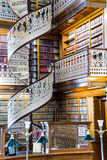 Spiral staircase at the Law Library in the Iowa State Capitol. Law Library Inside the Des Moines Iowa State Capital building with ornate architecture and spiral royalty free stock image
