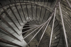 A spiral staircase leading to the colonnade of St. Isaac& x27;s Cathedral in St. Petersburg, Russia Stock Photography