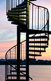 Spiral staircase made made of steel Royalty Free Stock Photography