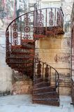 Spiral staircase of Mehrangarh Fort, Rajasthan, Jodhpur, India Royalty Free Stock Photos