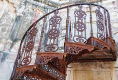 Spiral staircase of Mehrangarh Fort, Rajasthan, Jodhpur, India Royalty Free Stock Photo