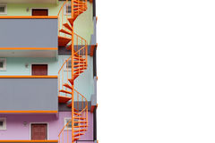 Spiral staircase of modern apartment living building. Stock Photos
