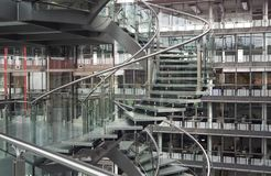 Spiral staircase in a modern building Royalty Free Stock Images