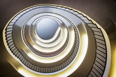 Spiral staircase. Modern spiral staircase - indoors - photo royalty free stock photography