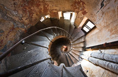 Spiral staircase in Odessa Royalty Free Stock Images