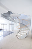 Spiral staircase. In office hall Royalty Free Stock Photography