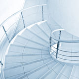 Spiral staircase. In office hall Stock Photo