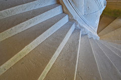 Spiral staircase in old castle Royalty Free Stock Photography