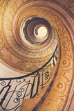 Spiral staircase in old castle Stock Photos