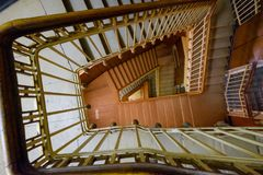 Spiral staircase on old house. Spiral staircase on the old house Royalty Free Stock Images