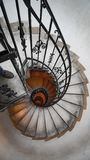 Spiral staircase in an old house. Fibonacci spiral. Stock Images