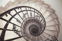 Spiral staircase in an old house Stock Image