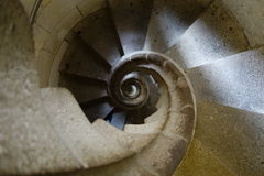 Spiral staircase. Old spiral staircase inside Sagrada Familia church in Barcelona royalty free stock photography