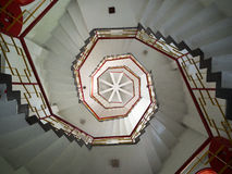 Spiral staircase. In a pagoda, Taiwan royalty free stock images