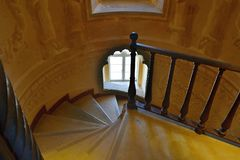 Spiral staircase in Pena National Palace, Portugal Royalty Free Stock Image