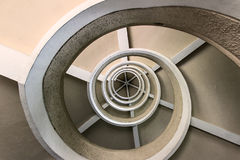 Spiral Staircase. Interior Architecture. Spiral staircase photographed from below Royalty Free Stock Photos