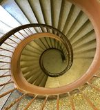 Spiral Staircase. Shot from above of Spiral Staircase Stock Image