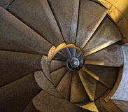 Spiral Staircase. A staircase spiraling downwards, seemingly endlessly Royalty Free Stock Images