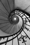 Spiral staircase in St. Stephen Basilica in Budapest Stock Photos