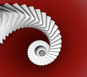 Spiral staircase successful ranking Stock Photography